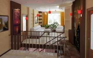 Гостиная на втором этаже частного дома