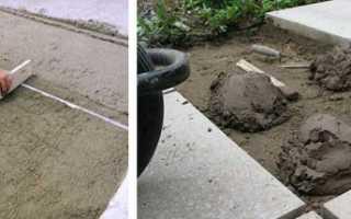 Песчано цементная смесь для тротуарной плитки пропорции