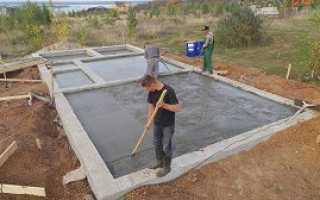 Расчет количества бетона на ленточный фундамент