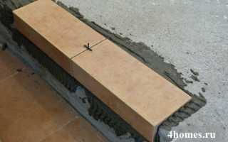Укладка плитки на лестнице
