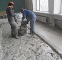 Пропорции бетона для стяжки пола в ведрах