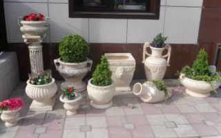 Как сделать вазу из цемента