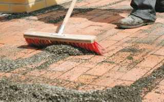 Заполнение швов тротуарной плитки