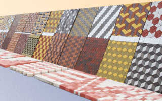 Укладка тротуарной плитки 2 цвета
