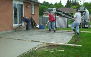 Стяжка двора бетоном
