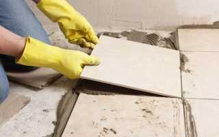 Чем обработать бетонный пол перед укладкой плитки