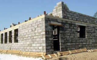 Фундамент для дома из полистиролбетона